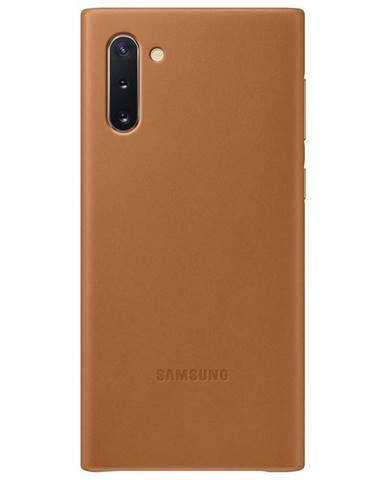 Kryt na mobil Samsung Leather Cover na Galaxy Note10 hnedý