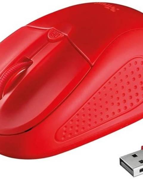 Trust Myš  Trust Primo Wireless červená / optická / 4 tlačítka / 1600dpi