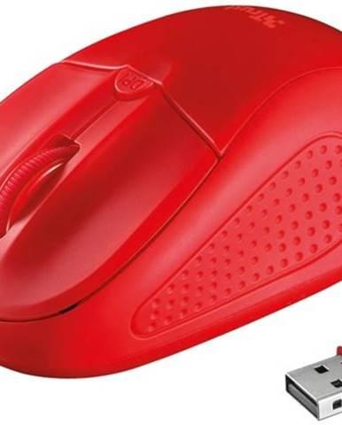 Myš  Trust Primo Wireless červená / optická / 4 tlačítka / 1600dpi