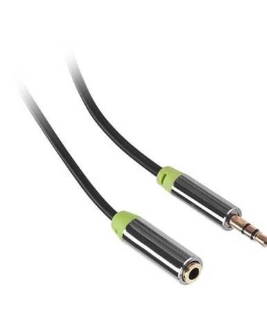 Kábel Gogen Jack 3,5mm,  5m, prodlužovací, pozlacené konektory