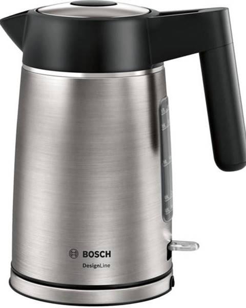 Bosch Rýchlovarná kanvica Bosch DesignLine Twk5p480 čierna/nerez