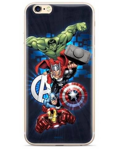 Kryt na mobil Marvel Avengers na Huawei Y6 2018 modrý