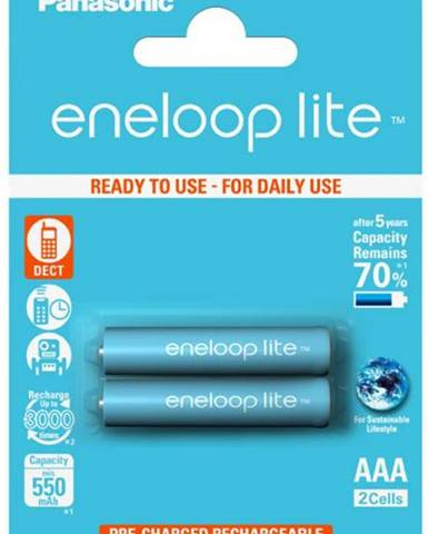 Batéria nabíjacie Panasonic Eneloop Lite AAA, HR03, 550mAh, Ni-MH,