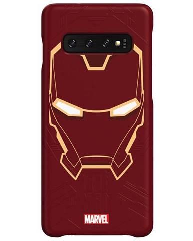 Kryt na mobil Samsung Iron Man na Galaxy S10 červený