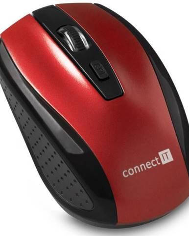 Myš  Connect IT CI-1224 červená / optická / 4 tlačítka / 1600dpi