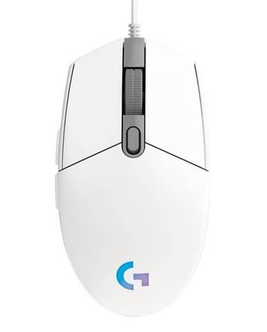 Myš  Logitech Gaming G203 Lightsync biela