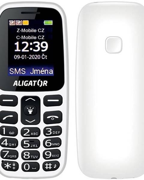Aligator Mobilný telefón Aligator A220 Senior Dual SIM biely