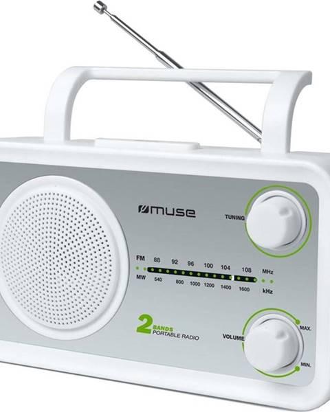 MUSE Rádioprijímač MM-06SW strieborný/biely