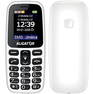 Mobilný telefón Aligator A220 Senior Dual SIM biely