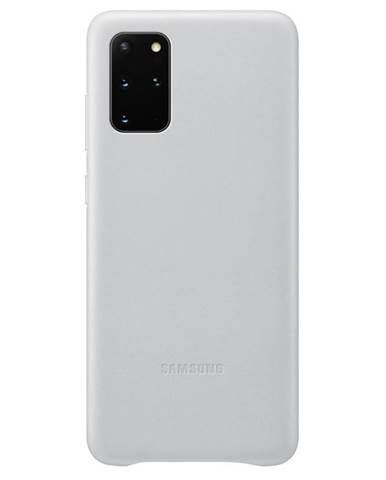 Kryt na mobil Samsung Leather Cover na Galaxy S20+ sivý
