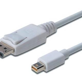 Kábel Digitus MiniDisplayPort / DisplayPort, 2m biely