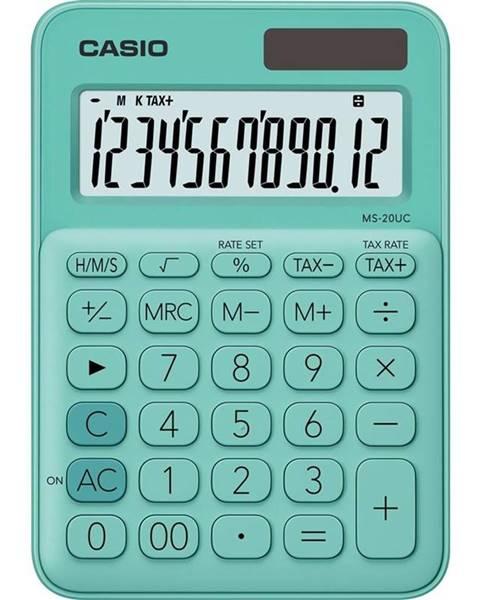 Casio Kalkulačka Casio MS 20 UC GN zelen