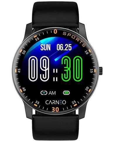 Inteligentné hodinky Carneo Gear+ platinum čierna