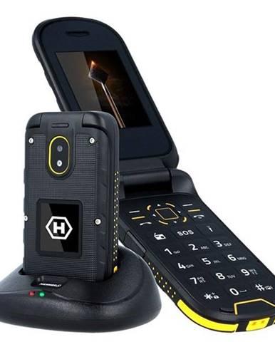 Mobilný telefón myPhone Hammer Bow Plus Dual SIM čierny/oranžový