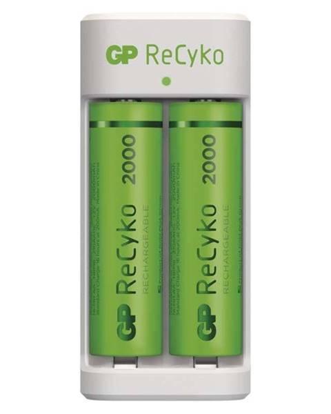 GP Nabíjačka GP Eco E211 + 2× AA ReCyko 2000