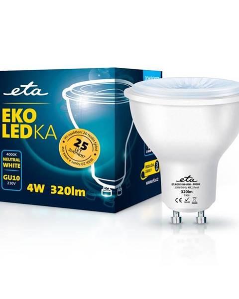 Eta LED žiarovka ETA EKO LEDka bodová 4W, GU10, neutrálna biela
