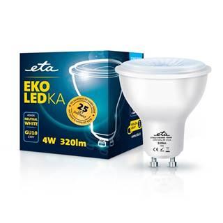 LED žiarovka ETA EKO LEDka bodová 4W, GU10, neutrálna biela