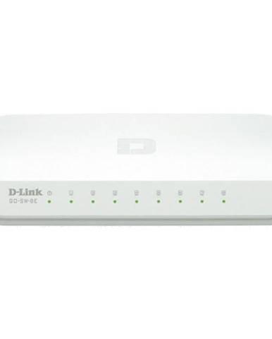 Switch D-Link GO-SW-8E sivý/biely 8 port, 10/100 Mb/s