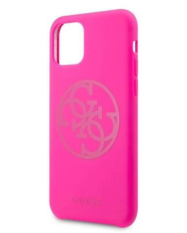 Kryt na mobil Guess 4G Tone on Tone na Apple iPhone 11 Pro ružový