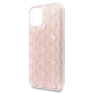 Kryt na mobil Guess 4G Peony Glitter na Apple iPhone 11 ružový