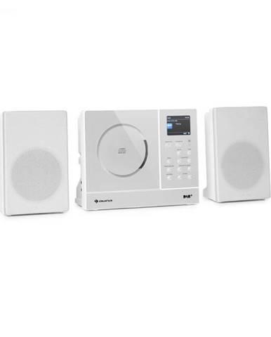 Auna Connect Vertical, internetové rádio, 2x5 W RMS, CD, IR/FM/DAB+, Spotify, BT, biele