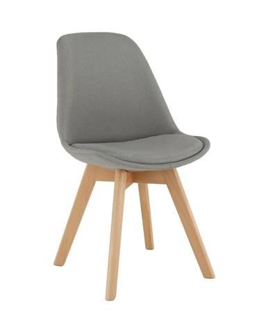 Stolička sivá/buk LORITA