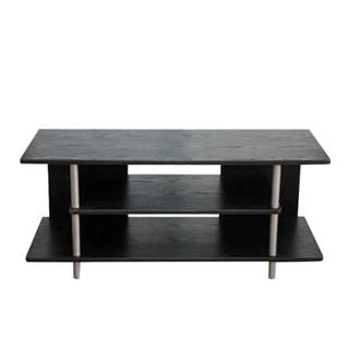 TV stolík čierna/strieborná QUIDO