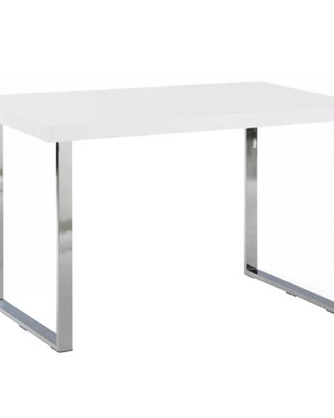 Tempo Kondela Jedálenský stôl biela HG + chróm TALOS