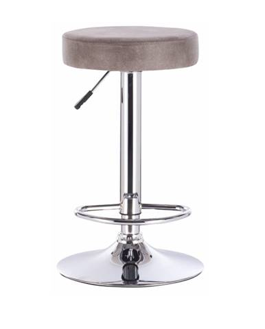 Barová stolička sivohnedá látka s efektom brúsenej kože GALVIN