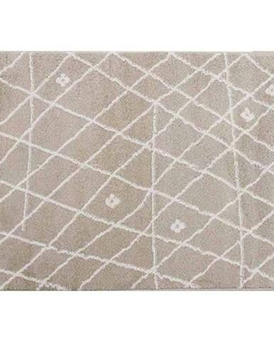 Koberec béžová/biela 160x235 TYRON