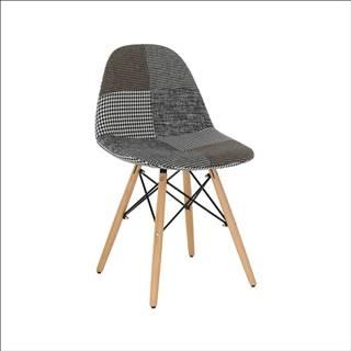 Dizajnová stolička látka patchwork PEPITO TYP 9