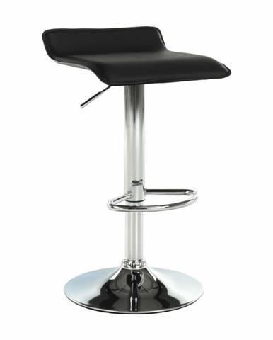 Barová stolička ekokoža čierna/chróm LARIA NEW