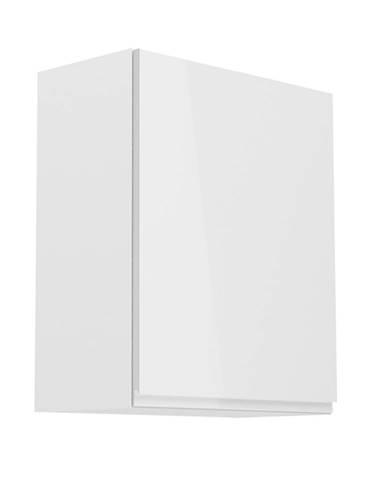 Horná skrinka biela/biely extra vysoký lesk pravá AURORA G601F poškodený tovar