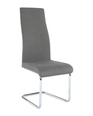 Jedálenská stolička látka tmavosivá/chróm AMINA poškodený tovar