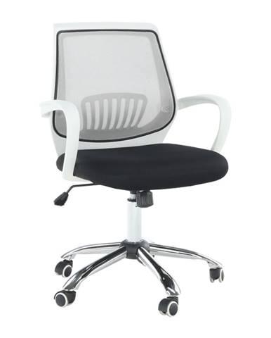 Kancelárske kreslo čierna/sivá LANCELOT