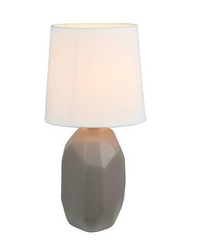 Keramická stolná lampa sivohnedá taupe QENNY TYP 3 AT15556