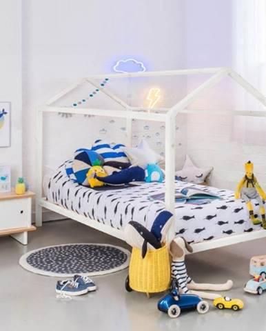 Montessori posteľ borovicové drevo biela IMPRES