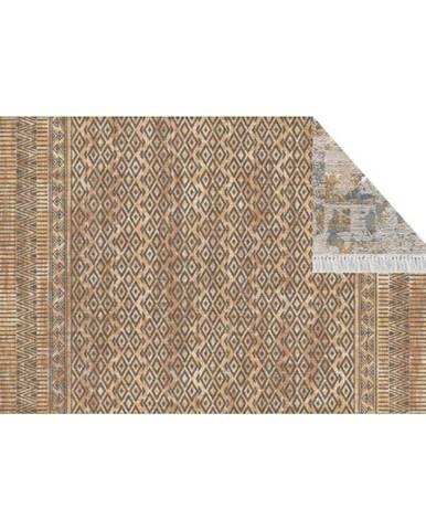 Obojstranný koberec vzor/hnedá 160x230 MADALA