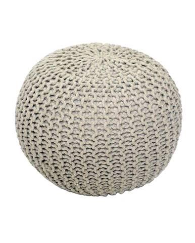 Pletený taburet krémová bavlna GOBI TYP 1