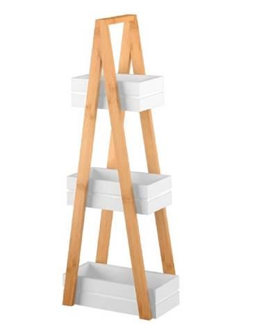 Regál bambus/biela VEGO