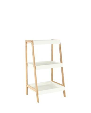 Regál bambus lakovaný/biela REGO 1