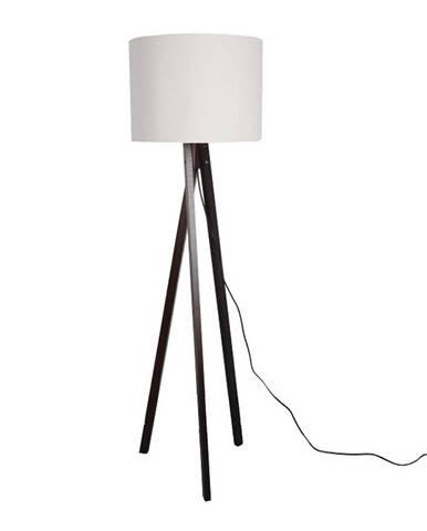 Stojacia lampa biela/drevo čierne LILA TYP 9 LS6062