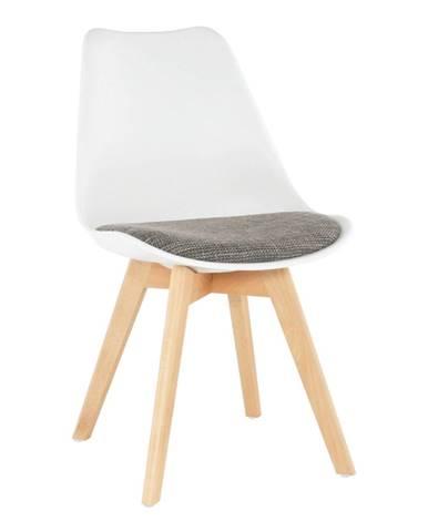 Stolička biela/verzo hnedá DAMARA