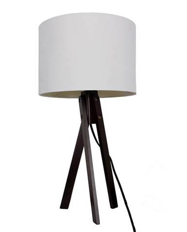 Stolná lampa biela/drevo čierne LILA TYP 4 LS2002