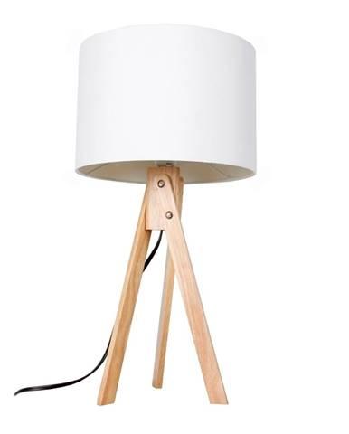 Stolná lampa biela/prírodné drevo LILA TYP 1 LS2002