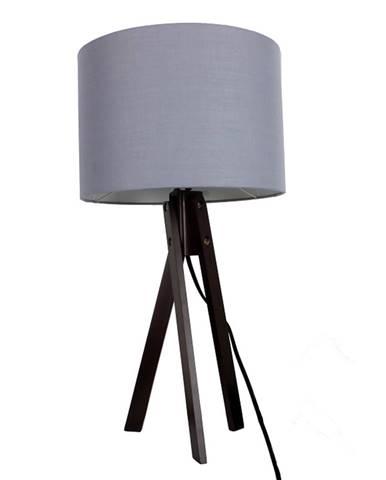Stolná lampa sivá/drevo čierne LILA TYP 5 LS2002