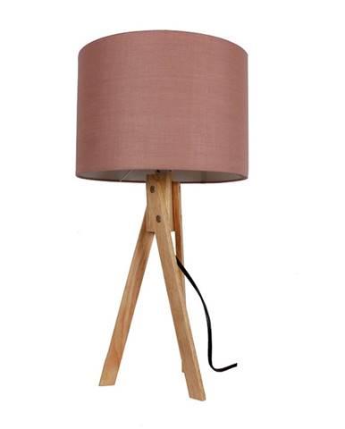 Stolná lampa taupe hnedá/prírodné drevo LILA TYP 3 LS2002