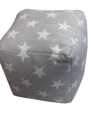 Taburet bavlna vzor hviezdy NOVEL