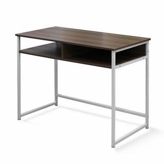 PC stôl orech/biela HARALD poškodený tovar