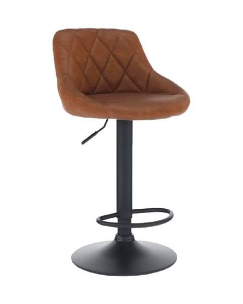 Kondela Barová stolička ekokoža koňaková/čierna TERKAN
